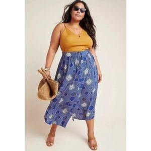 NWT The Odells Mollie Button-Up Midi Skirt